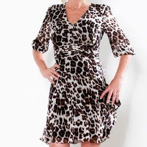 Diane Von Furstenberg leopard print dress size 2
